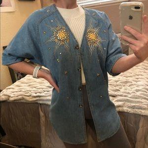 Vintage Monique Fashion Jean Shirt